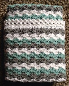 Striped Baby Blanket Heirloom Gift for by HookYarnAndHooper $84.99 #craftshout