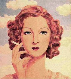 Tabac - René Magritte1932  Apparently I can't pass up a picture of a woman smoking.  And it's been 5+ years.