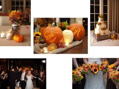 Rustic fall theme wedding that included mason jars, fall flowers, and pumpkins. It was a classy, colorful and romantic evening. Photo credit Daniel Taylor photography.