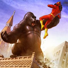 Gorilla Grodd, the Kong-sized nemesis of DC Comics' scarlet speedster, seems to have a pretty good grip on the Flash! Description from abbracadabbling.blogspot.com. I searched for this on bing.com/images