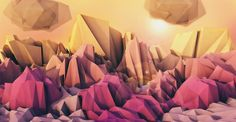 Cinema 4D - Creating Abstract Low-Poly Landscapes Tutorial