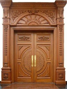 Ideas main door design unique for 2019 Wooden Front Door Design, Main Entrance Door Design, Double Door Design, Wooden Front Doors, Pooja Room Door Design, Door Design Interior, Unique Doors, Design Case, House