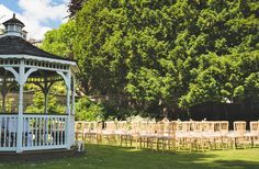 Outdoor garden wedding ceremony styling #gazebo | The Mansion House, Bristol | www.theplanninglo... | Image courtesy of http://www.lifeinfocusphotography.co.uk/ Victorian Buildings, Mansions Homes, Wedding Ceremony, Wedding Venues, Bristol, Outdoor Gardens, Gazebo, House Styles, Image