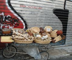 Street seller in central Athens