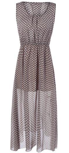High Waist Polka Dot Dress