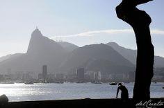 Rio de Janeiro Mureta Urca Cristo Redentor contra luz http://delcueto.wordpress.com