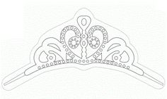 Tiara pattern use the printable outline for crafts for Sofia the first crown template
