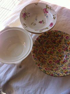 Deep bowls # vintagechina # wedding