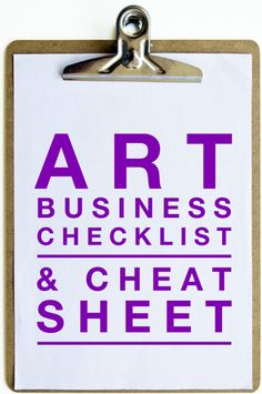 Building an art business? Use this checklist to make sure your have business planning, portfolio, pricing, marketing, and other practices in place.
