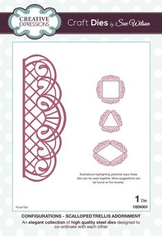 scalloped trellis adornment - configurations