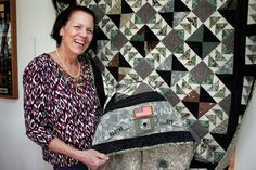 military uniform quilt - I /love/ this.  I wonder if at some point I can use old uniforms of Paul's to do something like this.