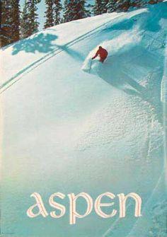 Aspen 1960's vintage ski poster