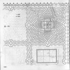 pineapple crochet stitches square