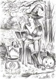 Adult Colouring Pages Webpage Full Of Them Halloween Coloring PagesWITCH