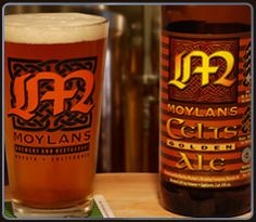 "Moylan's Celts Golden Ale  Pale gold in color, sweet and fruity, with a slight dryness and crisp hoppiness in the finish. This California Golden Ale is the perfect ""session"" beer- an excellent ale that complements all occasions."
