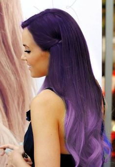 Purple and lavender ombre colorful indian remy clip in hair extensions C012 [C012] - VPfashion.com