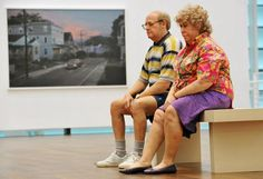 Duane Hanson Old couple on a bench
