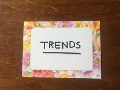 Today, I'd like to cover a few different sources of trends in the market. I'm going to focus on ingredient and product trends. Beauty Trends, Frame, Blog, Picture Frame, Blogging, Frames