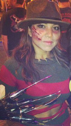 Mrs. Freddy Krueger Halloween makeup