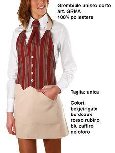 Apron striped red / beige, bright, easy-to-remove stains, and does not need ironing. you can use bleach. Grembiule a righe rosse e beige, facile da smacchiare, non serve stirare e si può candeggiare.