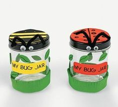 Celebrate spring with this My Bug Jar Craft Kit! Make a plastic bug jar to hold insects and kids will have have endless fun in their backyards collecting . Kids Crafts, Baby Food Jar Crafts, Summer Crafts, Preschool Crafts, Summer Fun, Toddler Crafts, Easy Crafts, March Crafts, Diy Crafts For Girls