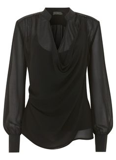 Mint Velvet. Black Cowl Neck Blouse £59.00