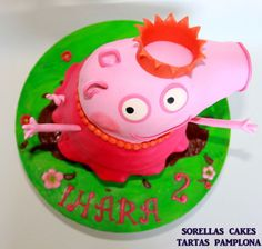Tarta Peppa Pig 3D 3d Cakes, Pink Cakes, My Favorite Color, My Favorite Things, Pink Foods, Peppa Pig, Amazing Cakes, Christening, Cake Toppers