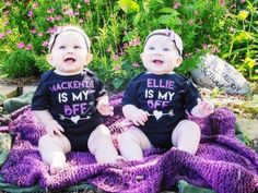 Best Friends onesie and headband set by BabyRuthBoutique on Etsy