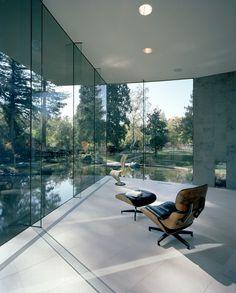 Living Room of Waterside Studio by Architect Mark Dziewulski