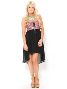 Zig Zag High Low #Dress