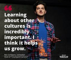 "It's fitting ""Courtyard Camera"" host Ben Schwartz thinks he's a Muppet because he's a pretty funny character in the comedy web series produced with the NFL. Ben Schwartz, Funny Character, Celebrity Travel, Helpful Tips, Comedians, Things To Think About, Nfl, Comedy, Men Casual"