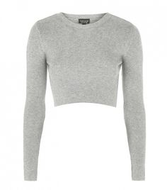 Topshop Ribber Crew Neck Cropped Sweater