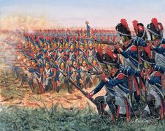 The Guard.  Which guard? The 69th faced the Imperial Guard at Waterloo. Check on these uniforms.