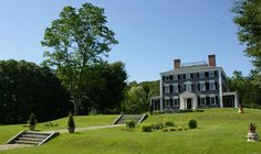 Codman estate house, love the terraced front lawn and steps
