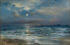 Thomas Moran, Moonlit Seascape, 1892.