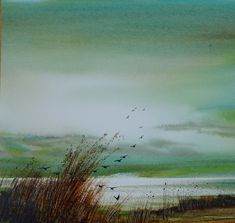 Keith Nash landscape and marine artist in watercolours Watercolor Landscape Paintings, Abstract Watercolor, Artist Painting, Landscape Art, Watercolour Painting, Watercolours, Boats And Birds, Art Aquarelle, Art Graphique