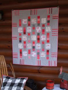 """Quilt by Candace Wasman 40x48"""" Would be cute in baby pink or baby blue."""