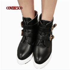 26.21$  Know more - http://aife9.worlditems.win/all/product.php?id=32692253797 - Sexy pointed toe women ankle boots sexy wedges high heels martin shoes fashion buckle spring autumn winter warm boots big size