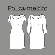 Kangaskapina Sewing Clothes, Diy Clothes, Sewing Tutorials, Sewing Patterns, Dresses For Work, Formal Dresses, Dress Skirt, Knitting, Skirts