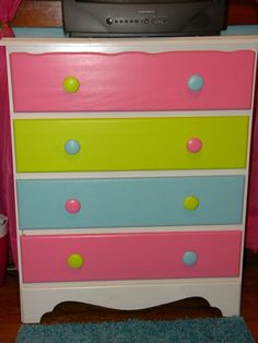 My girls bedroom colors are hot pink, teal, and lime green. Might do this in those colors