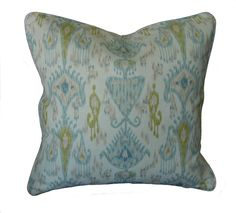 L.R. color scheme inspiration.  Don't like the print ... just the colors.  Khanjali Ikat Throw Pillow
