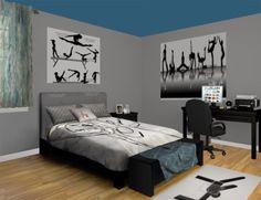 gymnastics themed bedroom modern