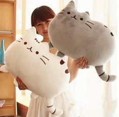 www.sanrense.com - Cartoon cute cookies cat cushion pillow SE6134