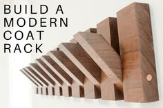 how to build a modern wood coat rack