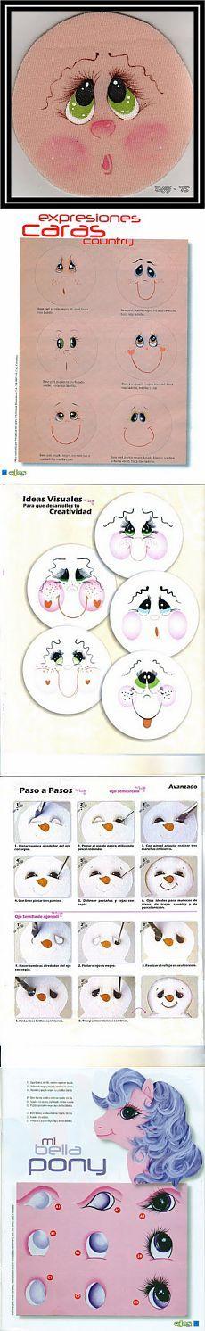 Забавные мордашки) Шпаргалка всем создателям кукол... / Прочие виды рукоделия / Другие виды рукоделия