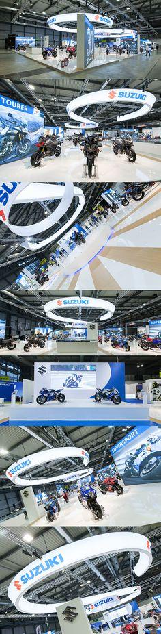 Suzuki trade fair booth design in Milan, EICMA show