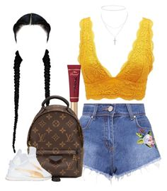 """""""Untitled #1032"""" by cjasmyne ❤ liked on Polyvore featuring Charlotte Russe, Louis Vuitton, Anne Sisteron and Puma"""