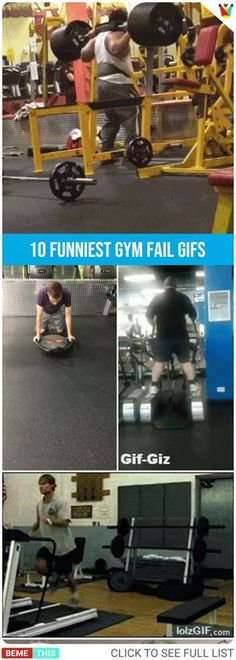 10 Humorous Gym Fails That Will Make You Both Cringe and Chuckle at the Same Time #gif #fitness #gym #fails #funny #funnypictures #humour #bemethis