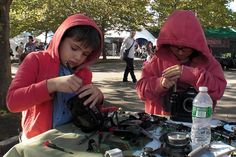 """IS MAKER FAIRE MADE FOR KDS? >> """"I love that it is becoming more kid-centric,"""" said Stephen Gilman, who brought his son Ben, 7, to the event, and works to help create """"makerspaces,"""" or  hands-on learning workshops, for children.  """"This is where the power of the maker movement is,"""" he said. (A. O'Leary via NYTimes)"""