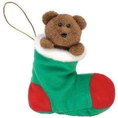 bf7baf506b18b TY Beanie Baby - STOCKINGS the Bear in Stocking by Ty